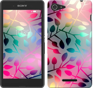 "Чехол на Sony Xperia E3 D2202 Листья ""2235u-672-19380"""