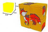 """М'якіши 4 кубика """"Дикі тварини"""" РОЗУМНА ІГРАШКА"""