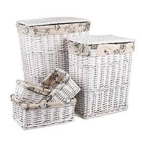 Плетенные корзины для белья и хранения