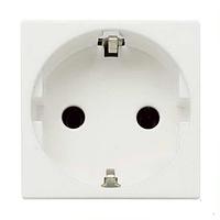 Розетка с заземлением и шторками, белый цвет Zenit ABB NIESSEN N2288 BL, 2 модуля