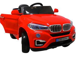 Электромобиль детский X6 с пультом управления, колесами EVA и мягким сидением красный