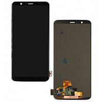 Дисплей для OnePlus 5T A5010 + тачскрин, черный, Amoled, оригинал (Китай)