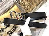 Ремень, пояс от Гуччи с камнями 2 и 3,5 см, натуральная кожа, фото 2