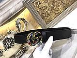 Ремень, пояс от Гуччи с камнями 2 и 3,5 см, натуральная кожа, фото 5