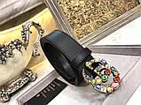 Ремень, пояс от Гуччи с камнями 2 и 3,5 см, натуральная кожа, фото 6