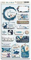 Чипборд для скрапбукинга 18шт от Scrapmir Blue & Blush (RU) русский