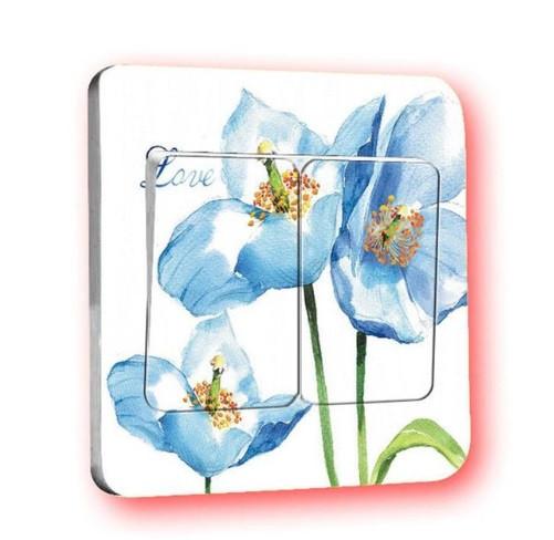 """Наклейка на выключатель """"Цветы"""" - 9*9см"""