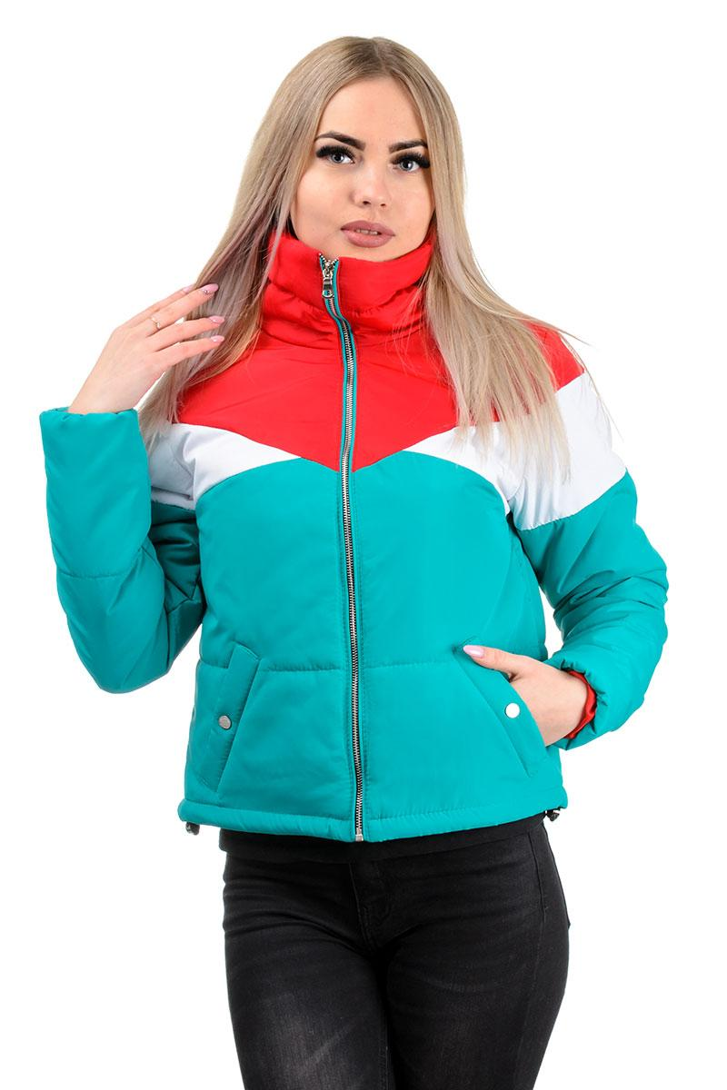 232 Демисезонная куртка «Яника» бирюза (42-48)