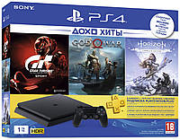 Ігрова консоль SONY PlayStation 4 Slim 1Tb Black (CUH-2208B) HZD+GTS+GOW+PSPlus 3М