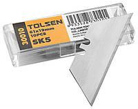 Лезвия трапеция Tolsen Профи 61х19х0.6мм SK5 10шт (30010) , фото 1