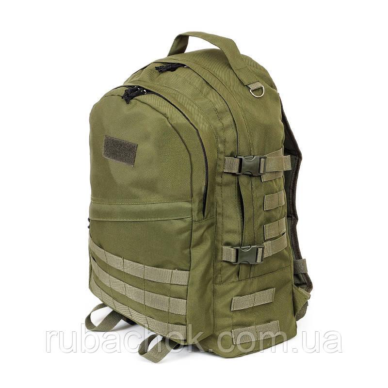Тактический походный крепкий рюкзак с оргонайзером 40 литров олива