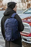 Рюкзак городской спортивный мужской, женский в стиле Reebok т-синий