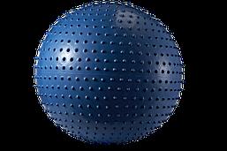 Мяч для фитнеса (фитбол) массажный 55см, ABS-система