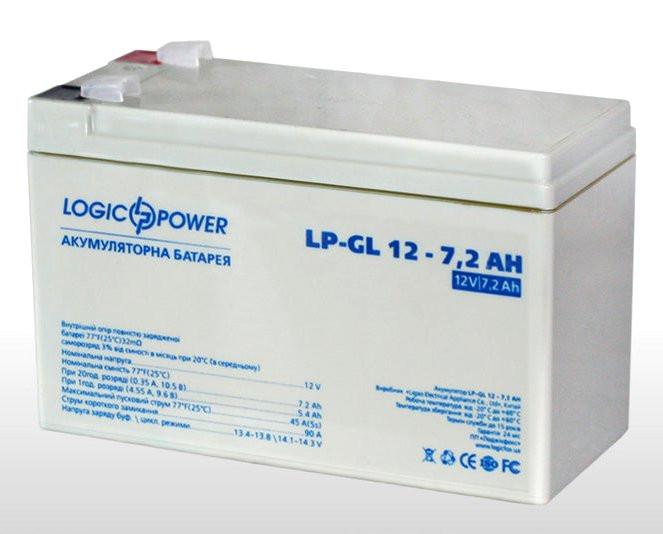 Аккумулятор гелевый  LP-GL 12 - 7,2 AH