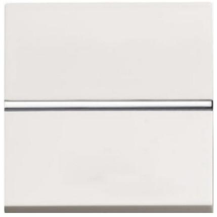 ТОП ЦІНА. Вимикач 1 кл., прохід. (з двох місць), білий колір Zenit ABB NIESSEN N2202 BL, 2 модуля