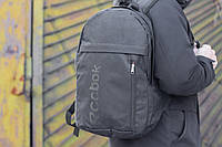 Рюкзак городской спортивный мужской, женский в стиле Reebok черный