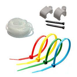 Кабельная стяжка, Спиральная обвязка, Клипсы, Скобы, Обоймы для кабеля и труб