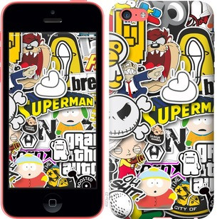 "Чехол на iPhone 5c Popular logos ""4023c-23-19380"""