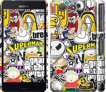 "Чехол на Sony Xperia Z3 Compact D5803 Popular logos ""4023c-277-19380"""