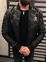 Бомбер мужской камо с воротником рибана Adidas топ реплика