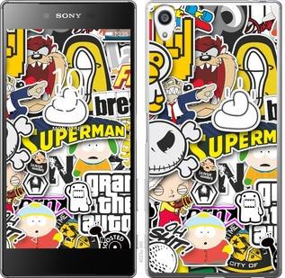 """Чехол на Sony Xperia Z5 Premium E6883 Popular logos """"4023c-345-19380"""""""