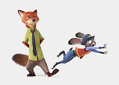 Картина GeekLand Zootopia Зверополис Ник и Джуди 60x40 ZO 09.003