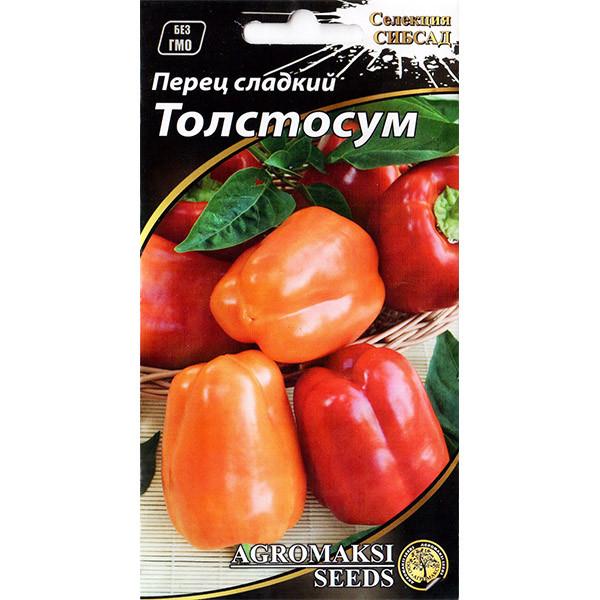 Насіння перцю середньораннього, солодкого «Товстосум» (0,2 г) від Agromaksi seeds