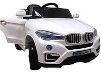 Электромобиль детский X6 с пультом управления, колесами EVA и мягким сидением белый