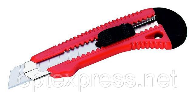 Нож для бумаги 18мм  с выдвижным лезвием  и металлическими направляющими  ALCO