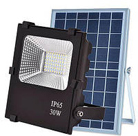 Светодиодный прожектор на солнечной батарее VARGO 30W с пультом (VS-321), IP65, фото 1