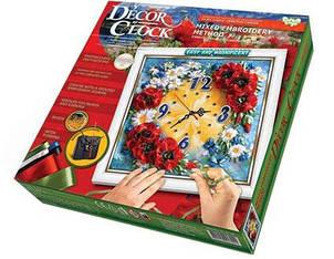 """Набор для творчества DANKO TOYS Decor Clock """"Маки"""" DC-01-04"""
