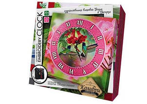 "Набор для творчества DANKO TOYS ""Embroidery clock"" Колибри"