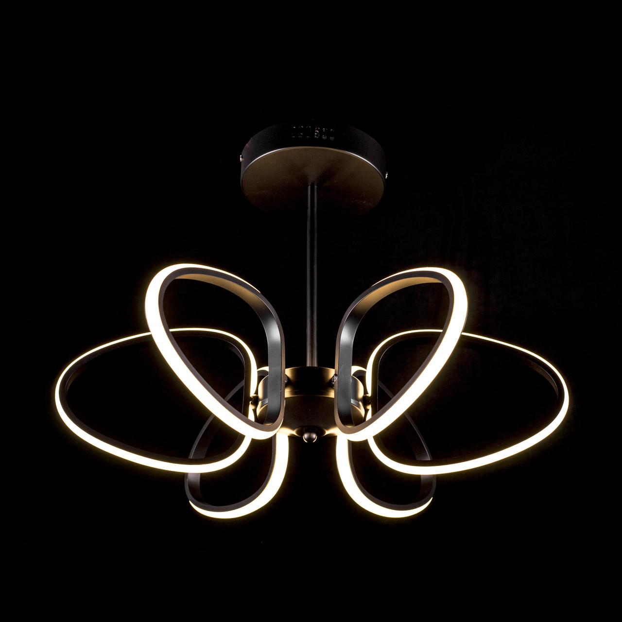 Светодиодная (LED) люстра Прометей  (теплый свет) P5-YT076/6/BK