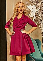 Оригинальное платье-пиджак с клешной юбкой