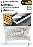 Хрестики дистанційні для плитки і клінкера VOREL тип Т: товщ.- 5 мм, уп. 50 шт.