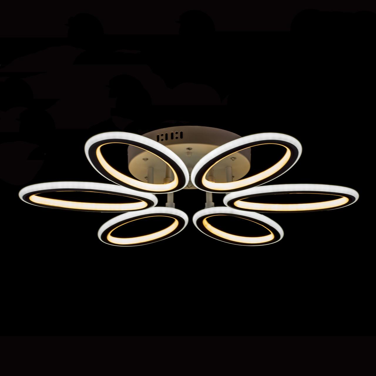 Светодиодная (LED) люстра Прометей  с диодной подсветкой P5-YT082/6/WT