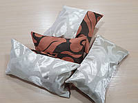 Комплект подушек молочные и терракот двусторонние, 4шт, фото 1