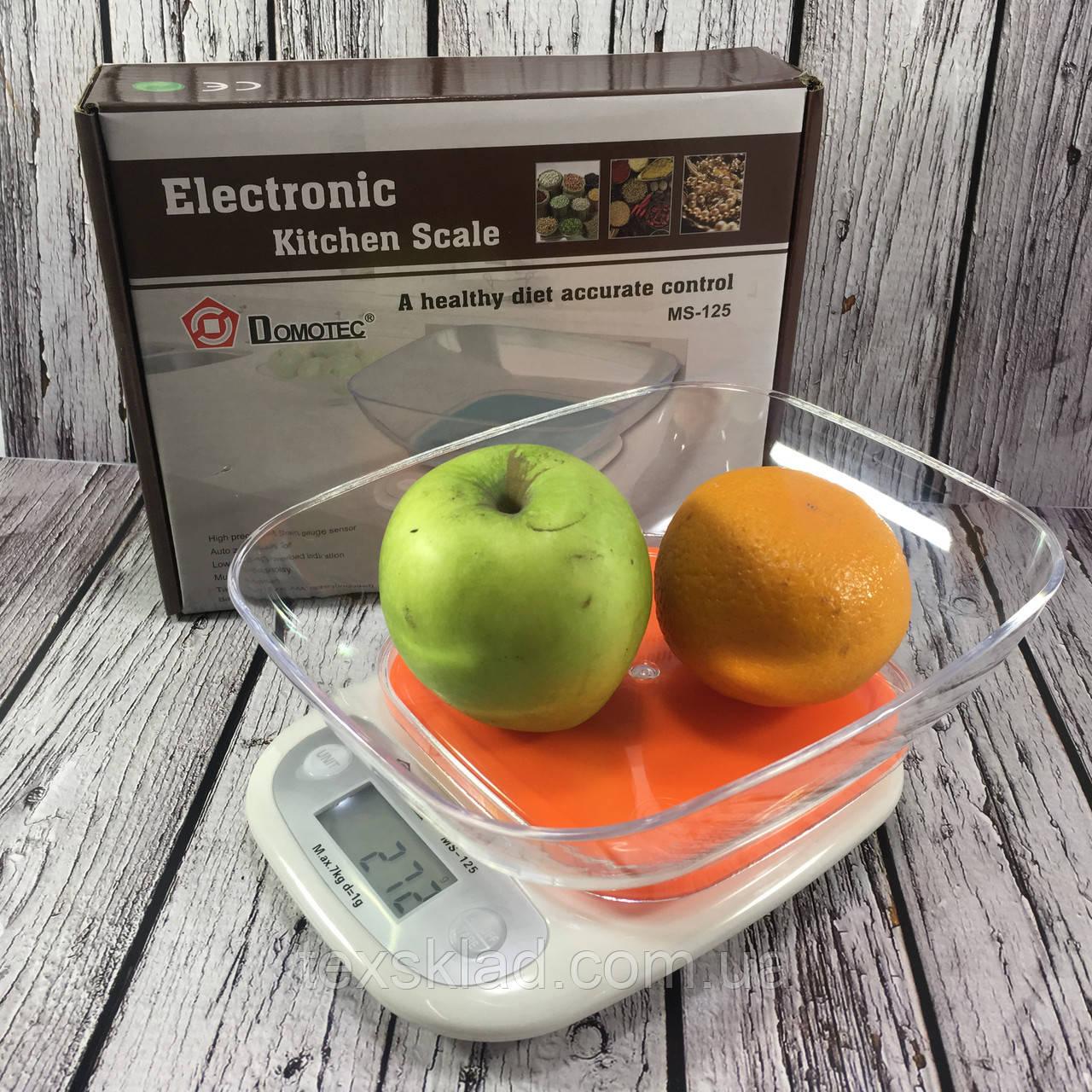 Весы кухонные с чашей DOMATEC mc-125 (7kg/1gr)