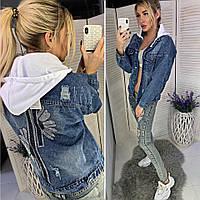 Модная джинсовая куртка 2019/20 со съемным капюшоном