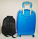 "Детский чемодан на колесах и рюкзак ""Миньон"" 516-7, фото 3"