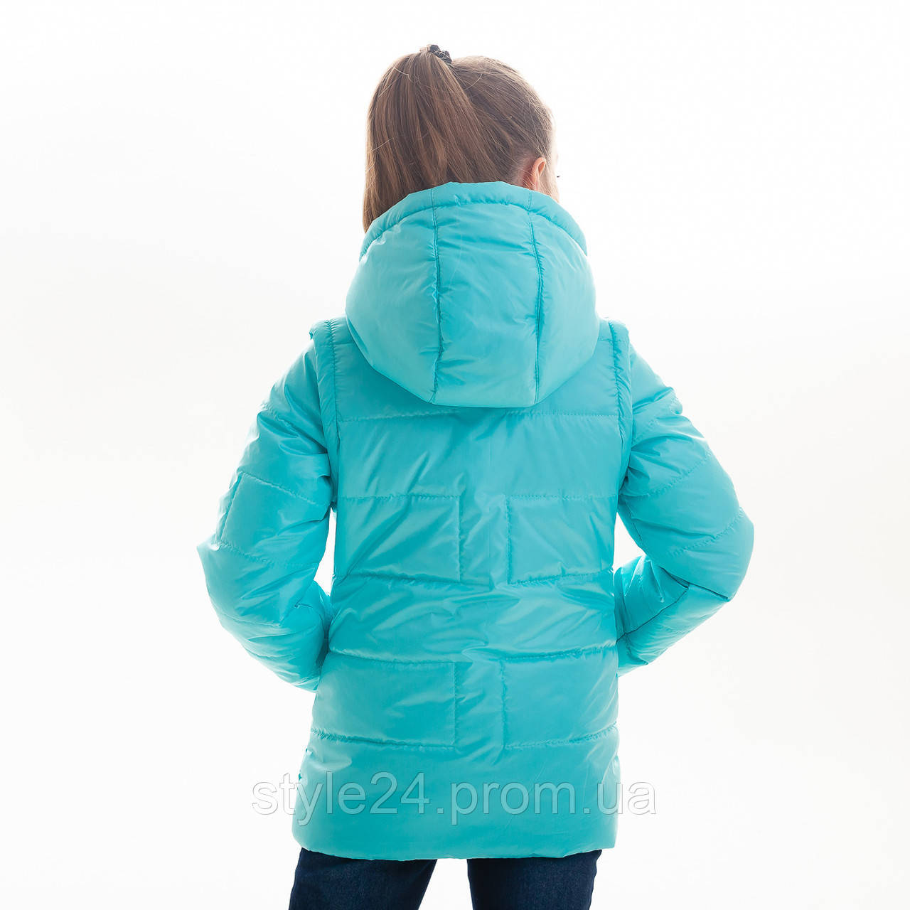 Весняна куртка-жилетка на дівчинку ростом 122-152  продажа 931b8f54c4fb2