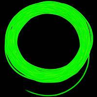 Холодный неон / электролюминисцетный провод 2-го поколения 2,2 мм, лайм (розница, опт)