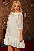 Платье с сеткой - макраме