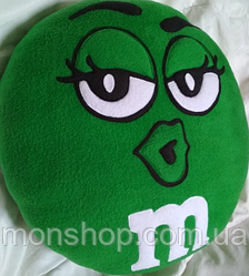 Подушка M&M зеленый (45 см)