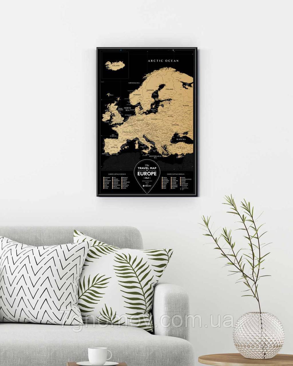 Скретч Карта Європи Travel Map Europe Black