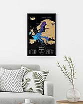 Скретч Карта Європи Travel Map Europe Black, фото 2