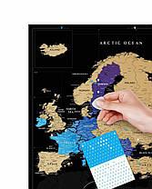 Скретч Карта Європи Travel Map Europe Black, фото 3