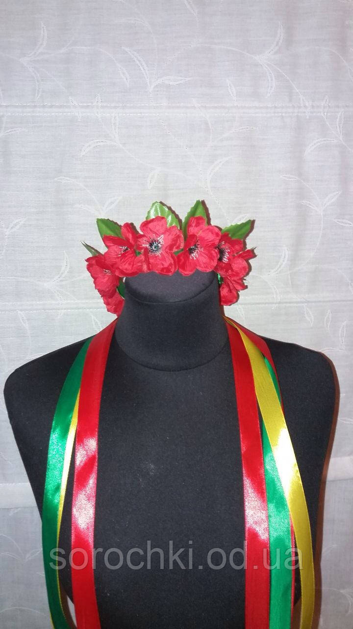 Венки для головы , средние , цветы