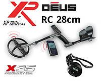 Металлоискатель XP DEUS 28 RC (X35) с обновленной катушкой 28 см и беспроводными наушниками WS4