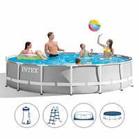 Каркасный бассейн Intex26724+ насос-фильтр 457*107см